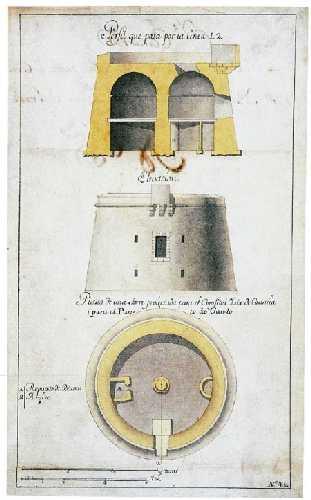 plano de un torreon vigia
