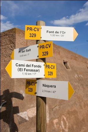 sendero pequeño recorrido comunidad valenciana