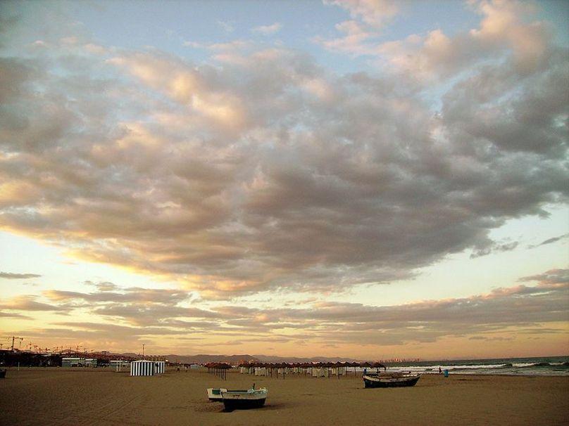 Playa valenciana de La Malvarrosa
