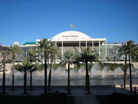 el Palacio de la Muscia en la ciudad de Valencia, jardines
